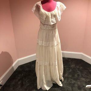 Vintage lace 70s maxi dress